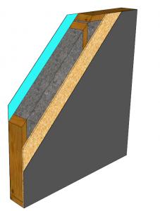 Coupe mur ossature bois classique