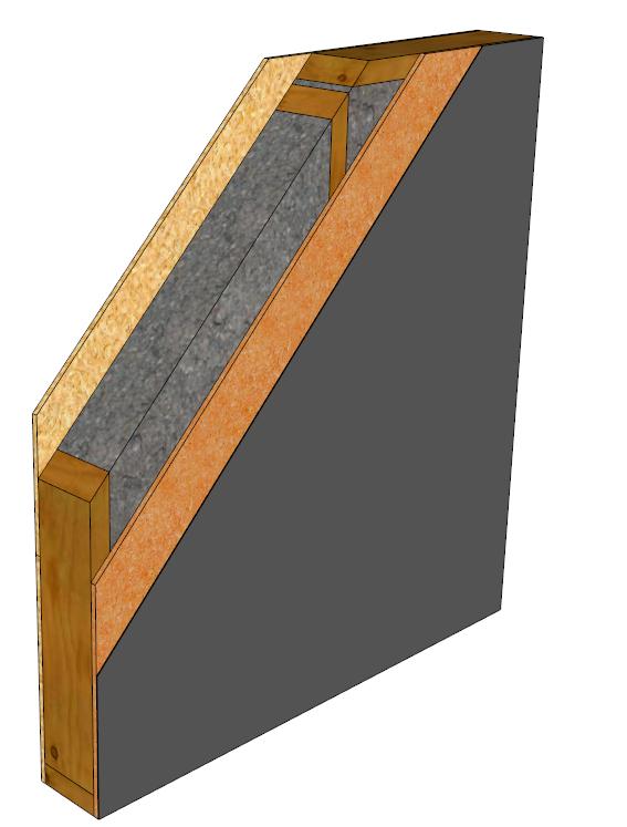 les murs perspirants en ossature bois. Black Bedroom Furniture Sets. Home Design Ideas