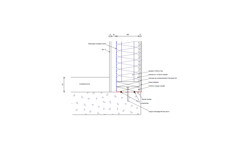 Beliebt Détails et coupes de principe de la structure bois WO72