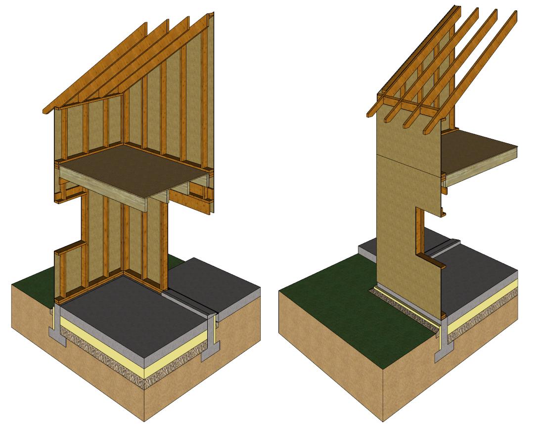 Technique de la charpente avec chevrons porteurs for Structure de bois