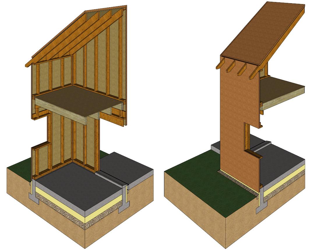 Isolation d 39 une maison ossature bois - Pose isolation exterieure ...
