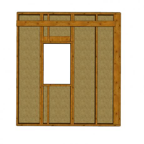 Ossature bois avec panneau