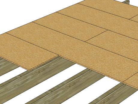 La construction bois tape par tape for Pose de plancher osb