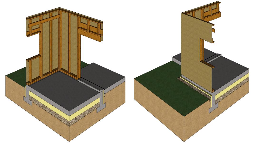 pose d 39 un mur ossature bois. Black Bedroom Furniture Sets. Home Design Ideas