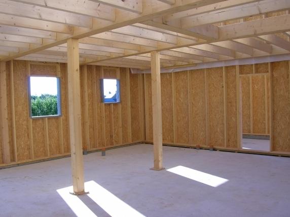 Les techniques constructives bois - Mur porteur maison ...