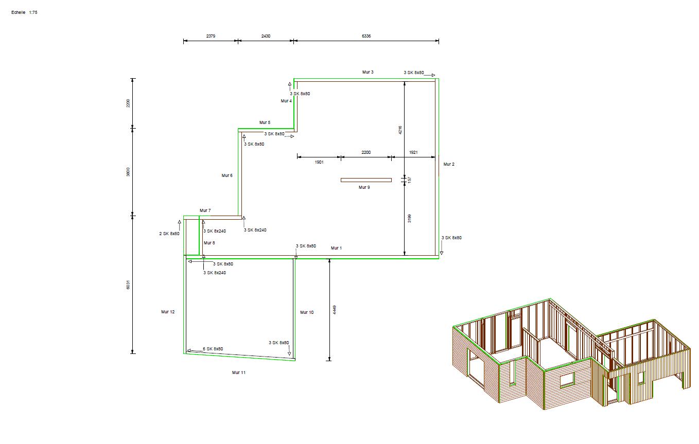 Plan technique maison ossature bois ventana blog - Ossature bois technique ...